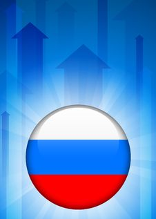 Free Russia Flag Icon On Internet Button Royalty Free Stock Photo - 14271935