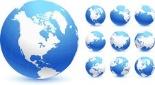 Free Globes Original Vector Illustration Stock Photo - 14272070