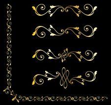 Free Golden Decorative Design Elements Stock Photography - 14272112