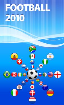 Free Soccer Poster With Flag Buttons Stock Photo - 14272130