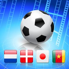 Soccer/Football Group E Royalty Free Stock Image