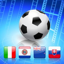 Soccer/Football Group F Royalty Free Stock Photography