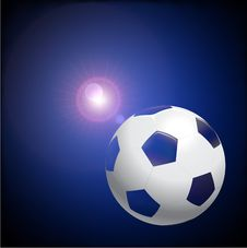 Free Soccer Ball On Lens Flare Background Royalty Free Stock Photo - 14272165