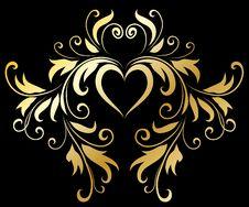 Free Golden Decorative Design Elements Royalty Free Stock Photos - 14272168