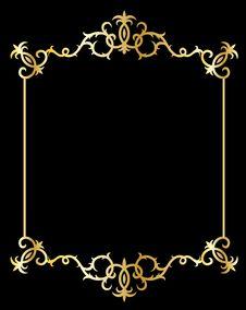 Free Golden Decorative Design Elements Stock Photos - 14272173