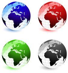 Free Globe Set Royalty Free Stock Image - 14272176