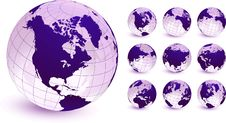 Free Globes Original Vector Illustration Stock Photos - 14272183