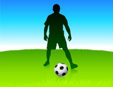 Free Soccer Player On Nature Park Background Stock Photography - 14272202