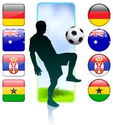 Soccer/Football Group D Royalty Free Stock Photography