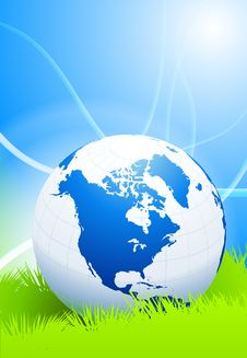 Free Globe On Abstract Nature Background Stock Photos - 14272253