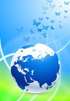 Free Globe On Nature Background Royalty Free Stock Photos - 14272258