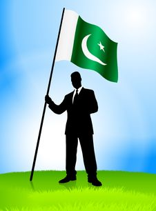 Free Businessman Leader Holding Pakiston Flag Stock Photography - 14272292