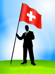Free Businessman Leader Holding Switzerland Royalty Free Stock Photography - 14272307