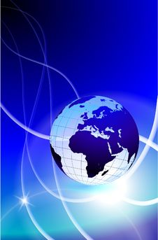 Free Globe On Light Streak Background Royalty Free Stock Photo - 14272325
