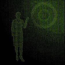 Free Binary Matrix Young Businesswoman Silhouette Stock Photo - 14272440