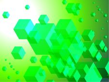Free 3D Cubes On Colorful Abstract Background Royalty Free Stock Photos - 14272508