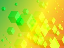 Free 3D Cubes On Colorful Abstract Background Royalty Free Stock Images - 14272529