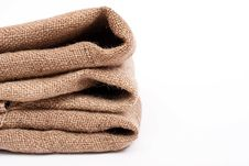 Pile Of Sackcloth Material Stock Photo