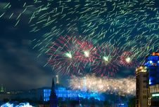 Free Firework Over Moscow Stock Photos - 14274053