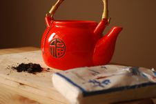 Free Teapot With Black Tea Stock Photography - 14274432