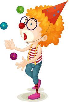 Free Joker Playing Balls Royalty Free Stock Image - 14274596