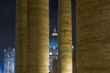Columns Of Vatican Stock Photography