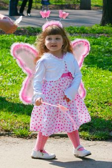 Free Girl With Wings Stock Image - 14275121