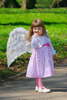 Free Girl With Wings Royalty Free Stock Image - 14275296