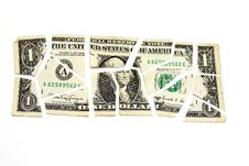 Free One Cut American Dollar Stock Photography - 14275522