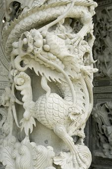 Dragon S Stone Carving Stock Photo