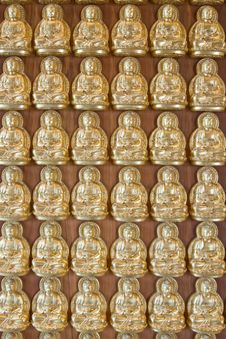 Free Ten Thousand Buddha On Chinese Temple Wall Royalty Free Stock Photo - 14276645