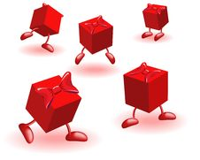 Free Boxs With Bows Stock Image - 14276831