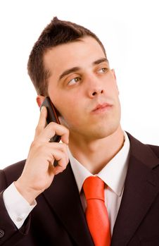 Free Business Man On The Phone Royalty Free Stock Photos - 14276968