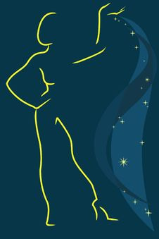 Free Female Silhouette Stock Image - 14277211