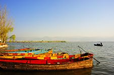 Free Wooden Boat In Lake Stock Photos - 14279043