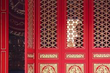 Free Chinese Door Stock Photography - 14279292