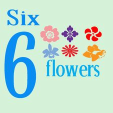 Free Six Flowers Stock Images - 14279894