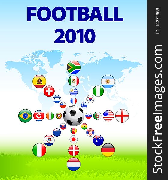 Soccer poster with Flag Buttons
