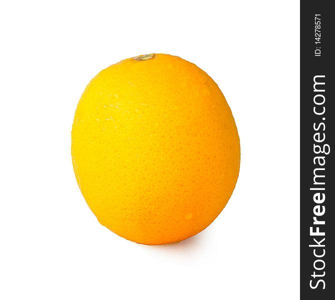 Single orange with drop on it