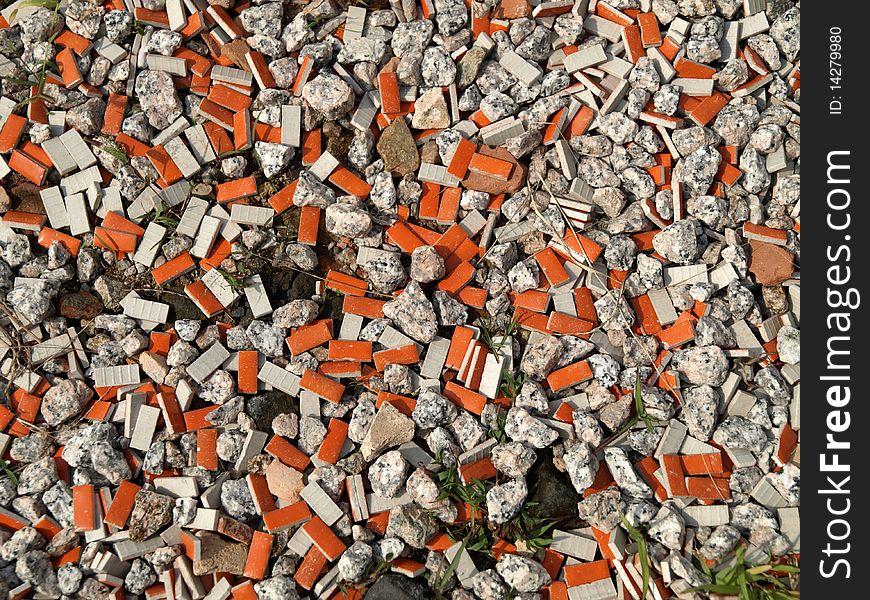 Quartz Sand with orange color tiles Texture Backgr