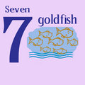 Free Seven Goldfish Stock Photos - 14280063
