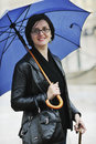 Free Woman On Street With Umbrella Royalty Free Stock Image - 14285156