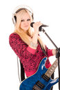 Free Beautiful Blonde With A Guitar Stock Images - 14286314