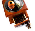 Free Coffee-grinder With Coffee Royalty Free Stock Image - 14286916