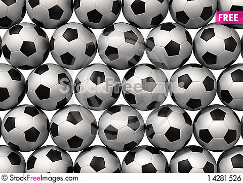 Free Soccer Balls Royalty Free Stock Image - 14281526