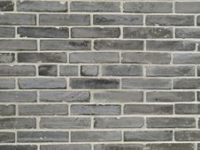 Free Wall Built With Vintage Grey Bricks Stock Photography - 14280012