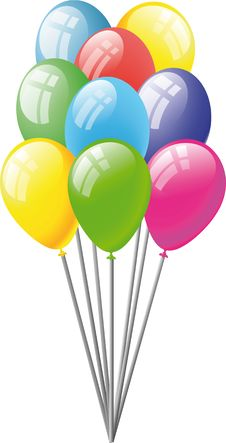 Free Set Of Balloons Royalty Free Stock Photography - 14280817