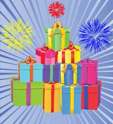 Free Gift Boxes Royalty Free Stock Images - 14280819