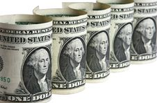 The Dollar Banknotes Stock Image