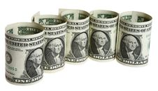 The Dollar Banknotes Stock Photo